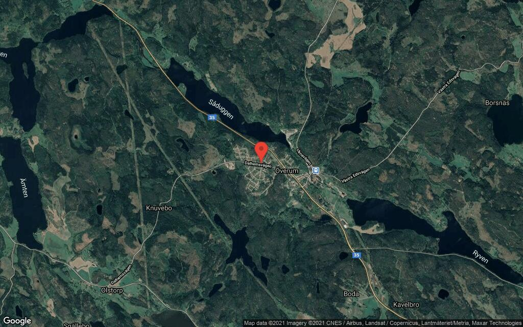 120 kvadratmeter stort hus i Överum sålt