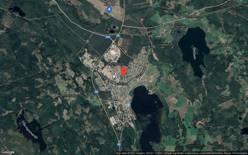 121 kvadratmeter stort hus i Hultsfred sålt