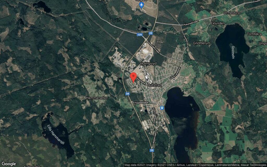 77 kvadratmeter stort hus i Hultsfred sålt