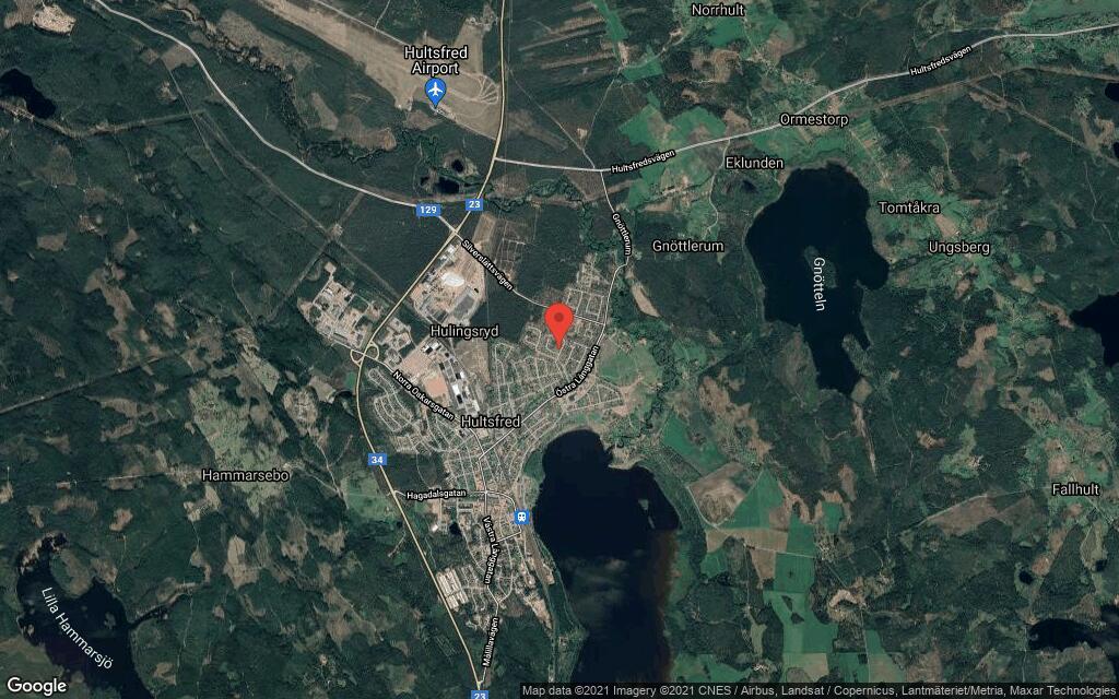 110 kvadratmeter stort hus i Hultsfred sålt till ny ägare