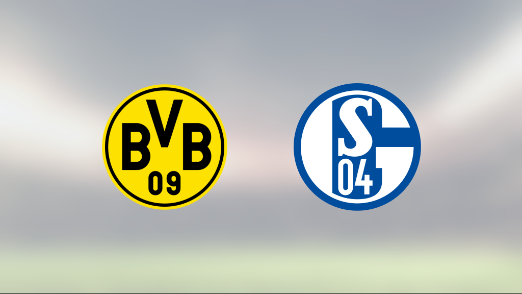Borussia Dortmund avgjorde i andra halvlek mot Schalke 04
