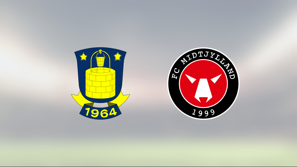 Midtjylland toppar tabellen efter seger mot Bröndby