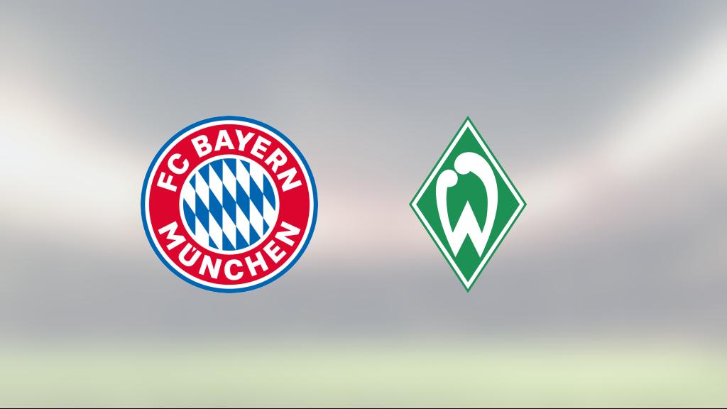 Tungt för Bayern München – Werder Bremen bröt fina vinstsviten