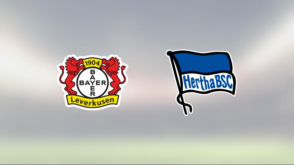 Hertha Berlin bröt Bayer Leverkusen segersvit