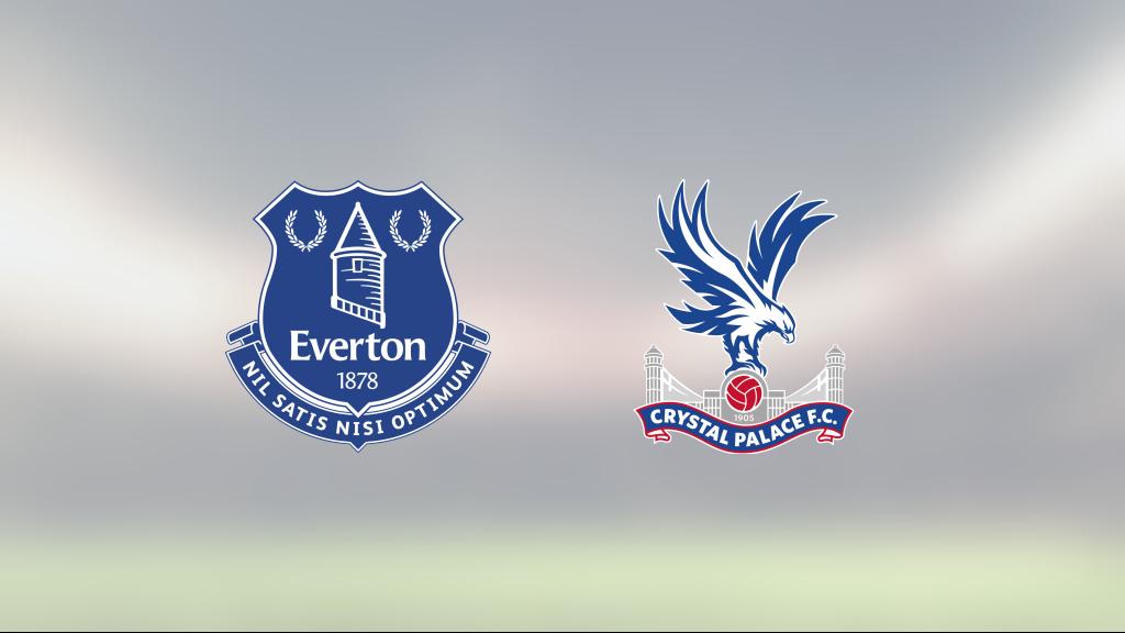 Everton och Crystal Palace delade på poängen efter 1-1