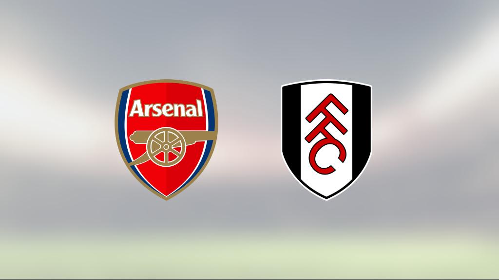 Äntligen poäng för Fulham mot Arsenal