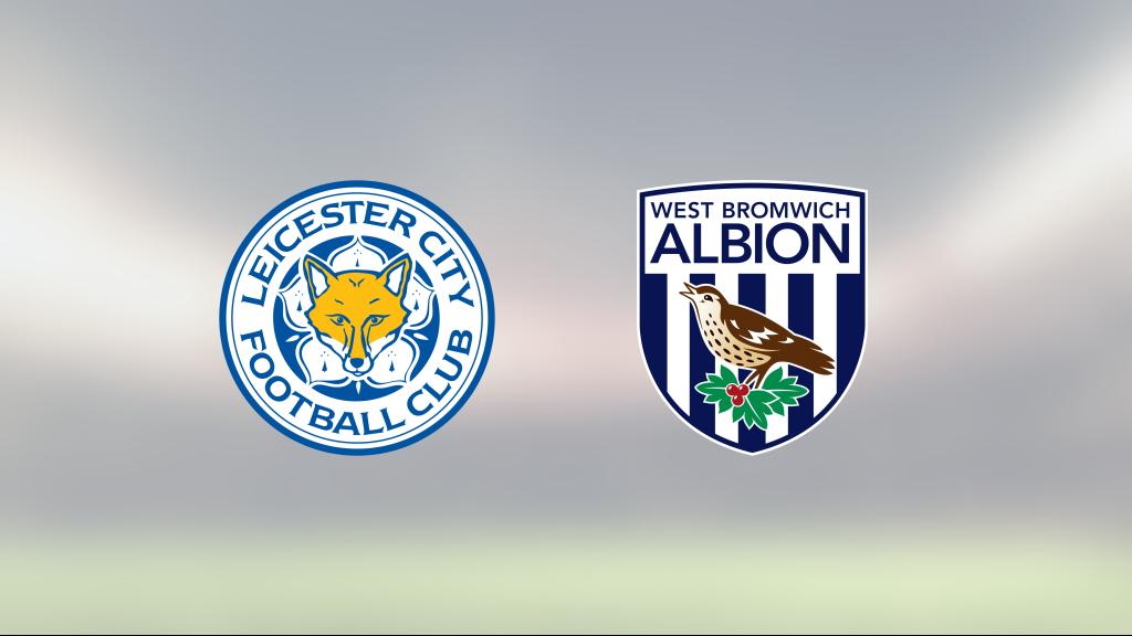 Stark första halvlek räckte för Leicester mot West Bromwich Albion