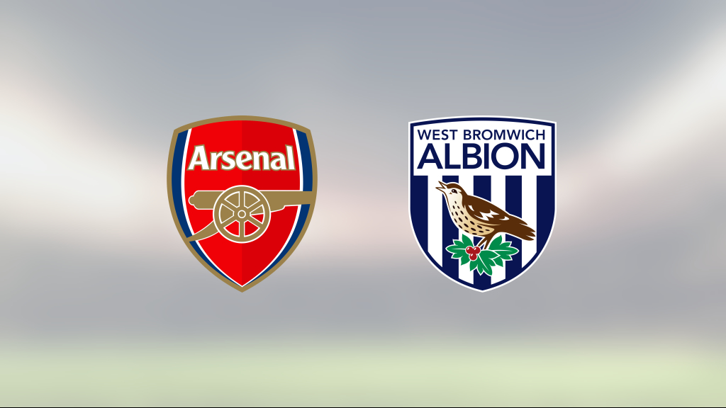 Seger för Arsenal på hemmaplan mot West Bromwich Albion