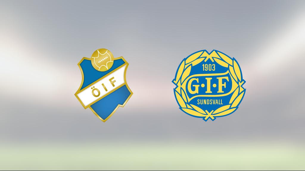 Johan Bengtsson och Pontus Engblom matchvinnare när GIF Sundsvall vann mot Öster