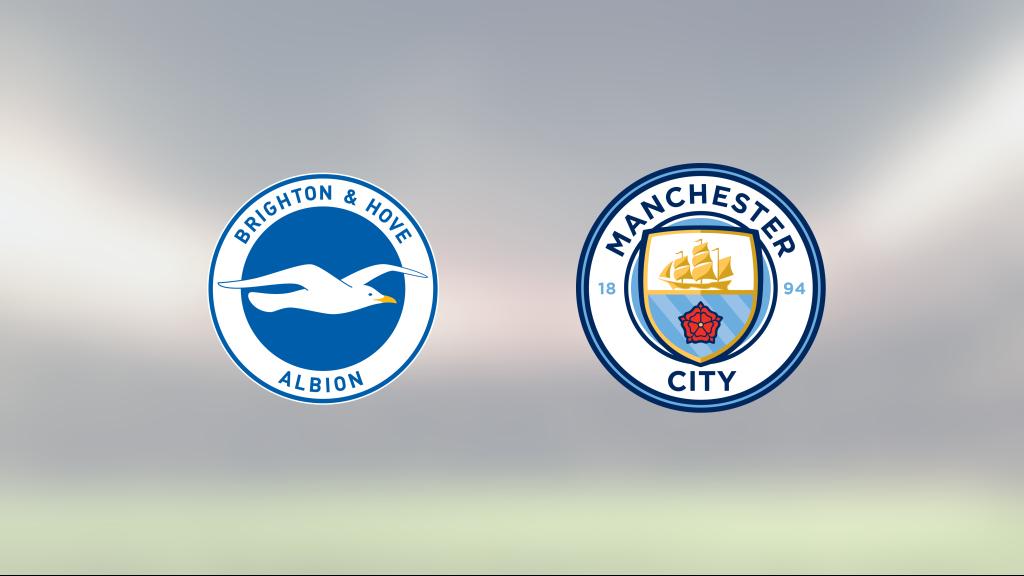 Tuff match slutade med seger för Brighton mot Manchester City