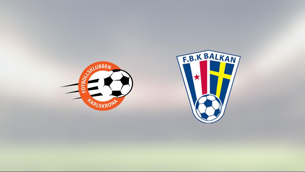 1–0-seger för FK Karlskrona mot Balkan – Michael Andrews matchhjälte