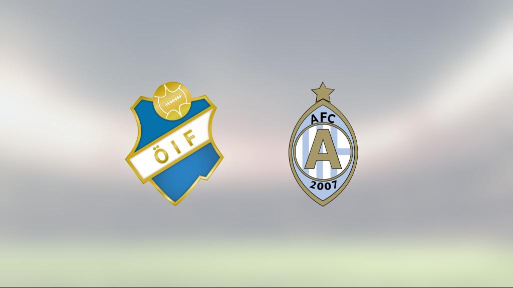 Östers Nicolas Mortensen och Mathias Pavic sänkte AFC Eskilstuna